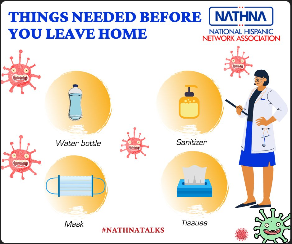 Things you must and should have before leaving home. Keeping hand Hygienic, Sneeze within a tissue, Carry own water Bottle, Put on a mask, These are a few mandatory things you need to adopt in daily life. #Covid19 #Hygienic #Takecare #Nathnatalks