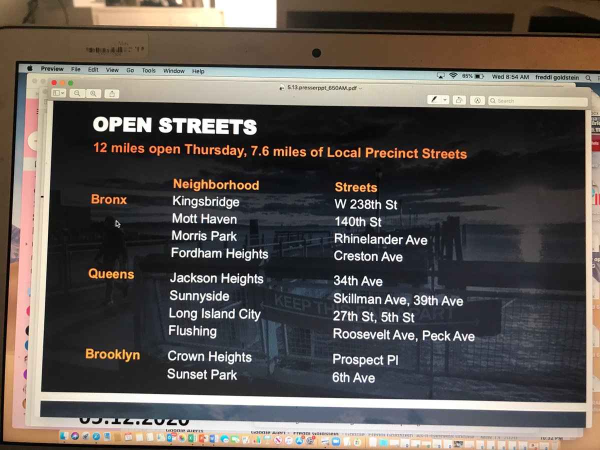 NEW: ⁦@NYCMayor⁩ opening 12 more miles of open streets including more than seven miles of local streets. (The others are park adjacent and neighborhood BIDs.) Starts tomorrow. #NBC4NY pic.twitter.com/XfgDdE6A0b