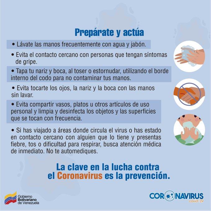 ☣️ #Covid_19 || Recuerda que la prevención es la clave para combatir el coronavirus. Sigue minuciosamente las normas de higiene establecidas por la OMS, y vencerás a este enemigo invisible. #MáximaProtección #PrensaFANB #FANB #Venezuela #13May https://t.co/h0ikWefipG