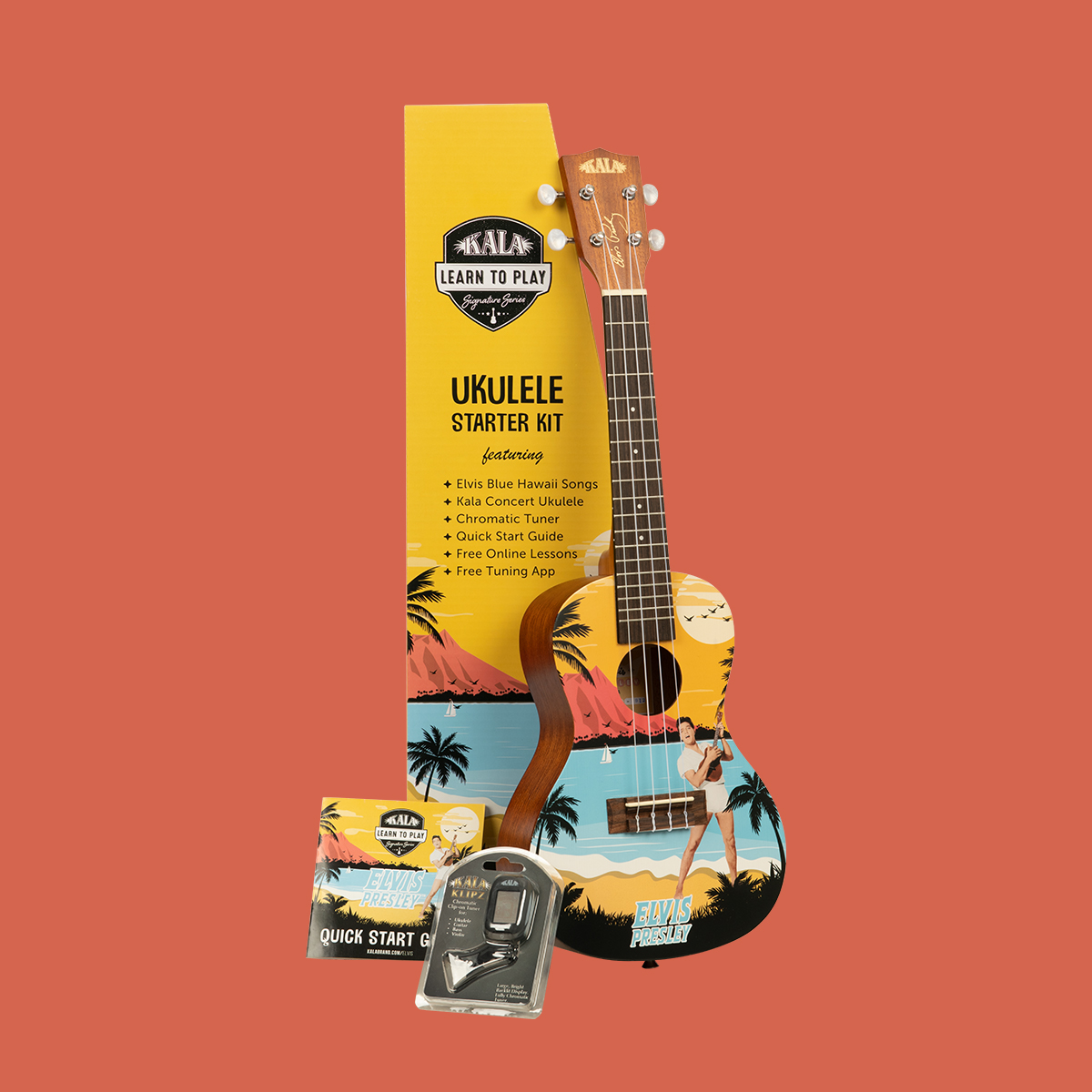 """Elvis Presley в Twitter: """"Learn To Play: Blue Hawaii with @kalabrandmusic's original themed concert ukuleles! The collectible and educational 'Learn to Play Elvis Series' is one of the best ways to learn #"""
