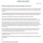 Image for the Tweet beginning: BTA media release: COVID-19 outbreak