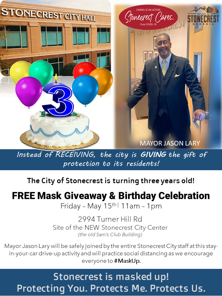 We're Having a Birthday Celebration and Mask Giveaway – Friday, May 15th at 11AM
