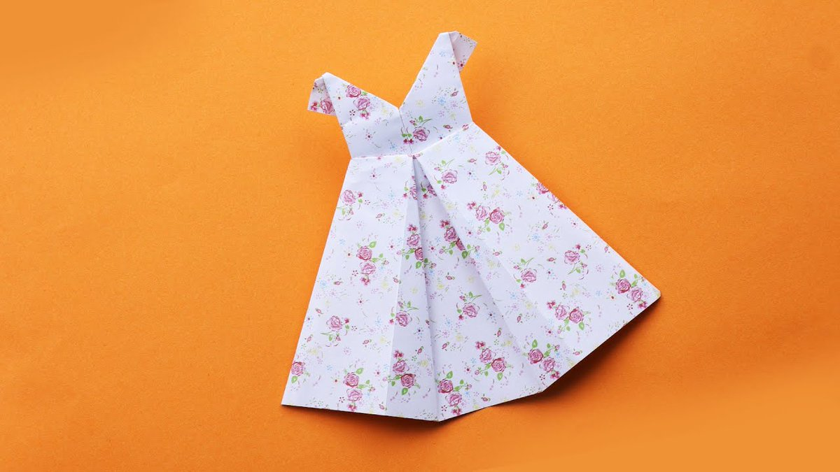 Origami dress card topper... | 675x1200