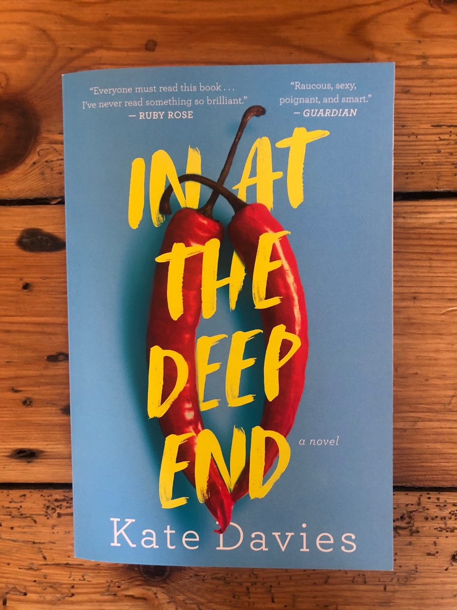 What's this? A box full of beautiful US paperbacks of In at the Deep End, complete with amazing quote from Ruby Rose, ready to be sprayed with diluted bleach! It's coming out (geddit?) on May 26, in time for Pride Month and available for pre-order now...