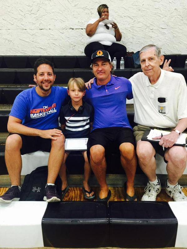 And here's the legendary Tom Konchalski on the beat with  @DraftExpress, me and my son James. https://t.co/mSjPR0CDG7