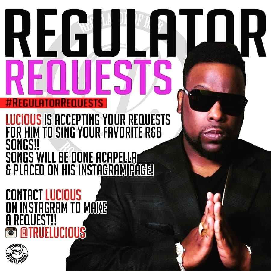 """NEW """"Regulator Requests"""" VIDEO ON IG @ 2PM, TODAY!!!! #RegulatorRequests #RockviewEnt #ItDontStop #GrindPays #RNB #LPNation #SouthsideGentleman #ThePeoplesChoice #MrVocals #RegulatorOfRNB #Lucious #Spotify #YouTube #SoundCloud #VEVO https://t.co/U402Xy2IYY"""