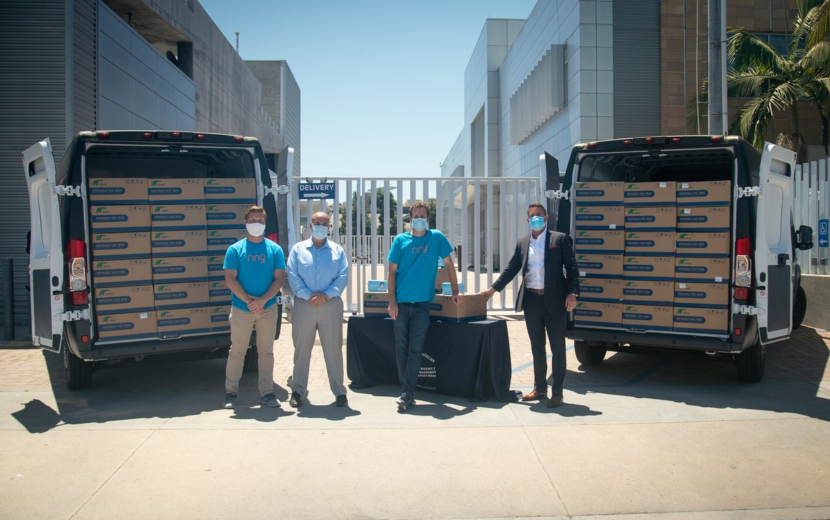 Proud to see @Ring donated 100,000 masks to @LACity this week. #RingPartner