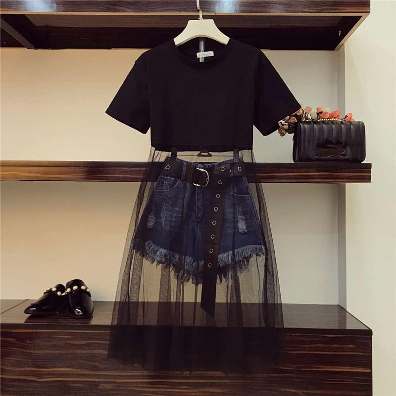 What''s not to like about this Luxury Quality Mesh Patchwork Black Long T-shirt + Tassel Denim Shorts Set... • https://shortlink.store/GFmY1CyUUh   tarting @   #klozetstyle #style #fashionpic.twitter.com/fKwfQsBbRD