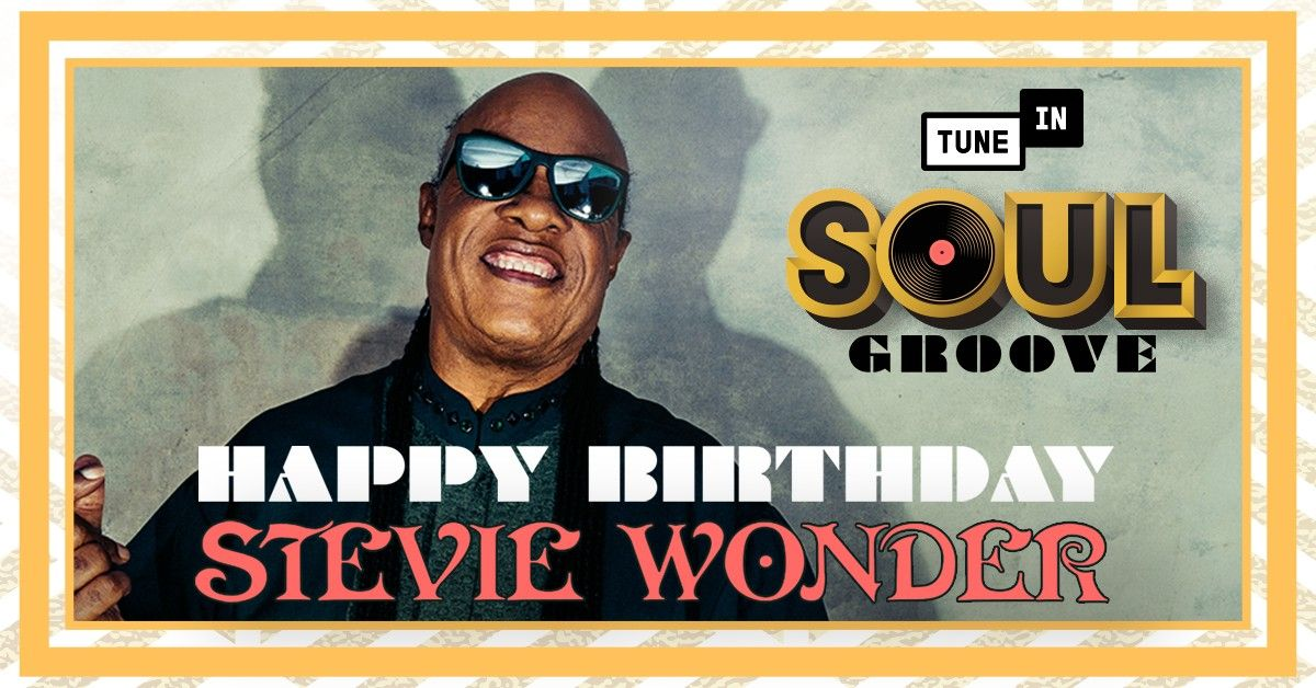Happy 70th birthday to the one and only Stevie Wonder! 🎂🎶 Head to Soul Groove on TuneIn to hear all your Stevie favorites playing throughout the day: listen.tunein.com/soulgroove