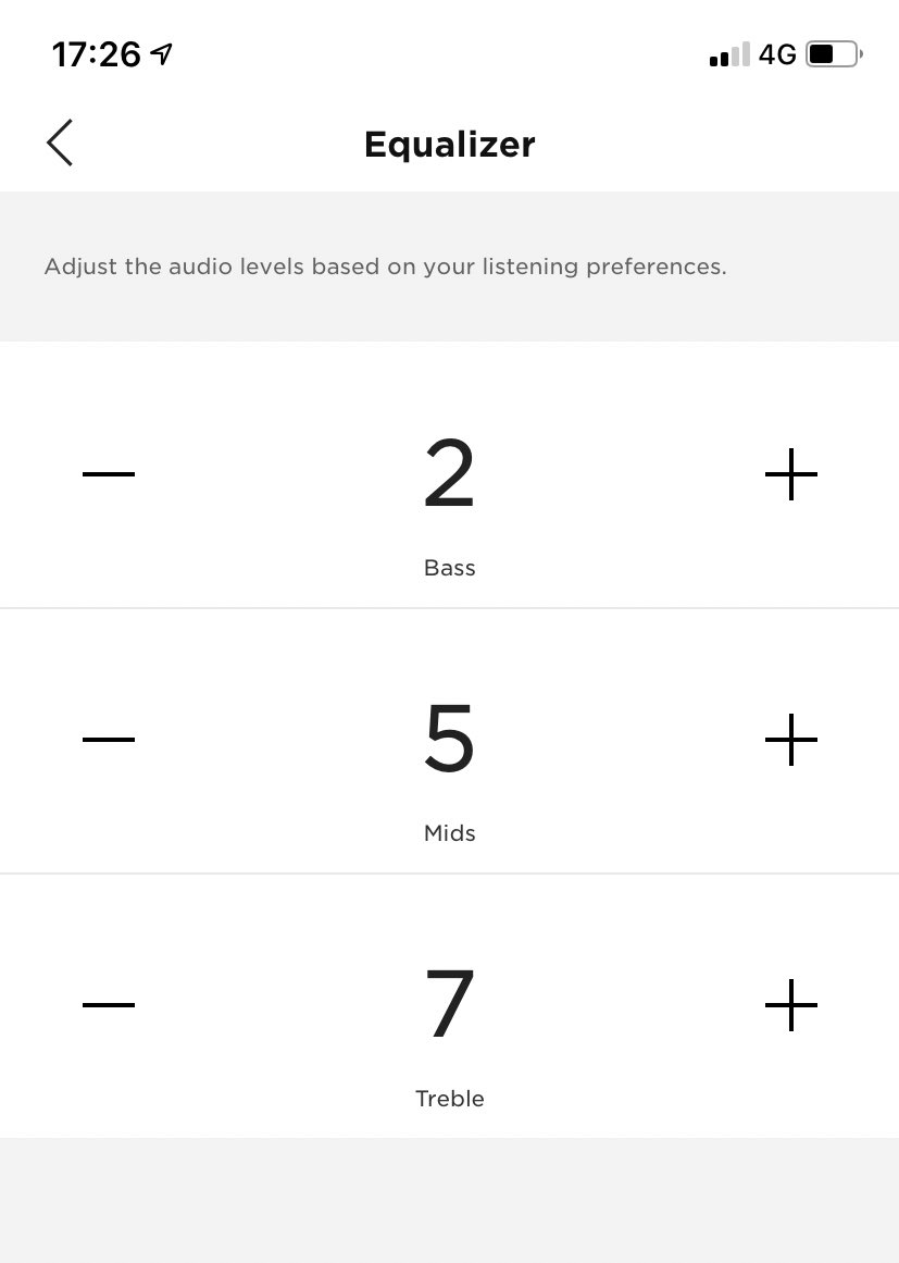 .@Bose fully listening to customers/reviewers here - adding an EQ in latest app update