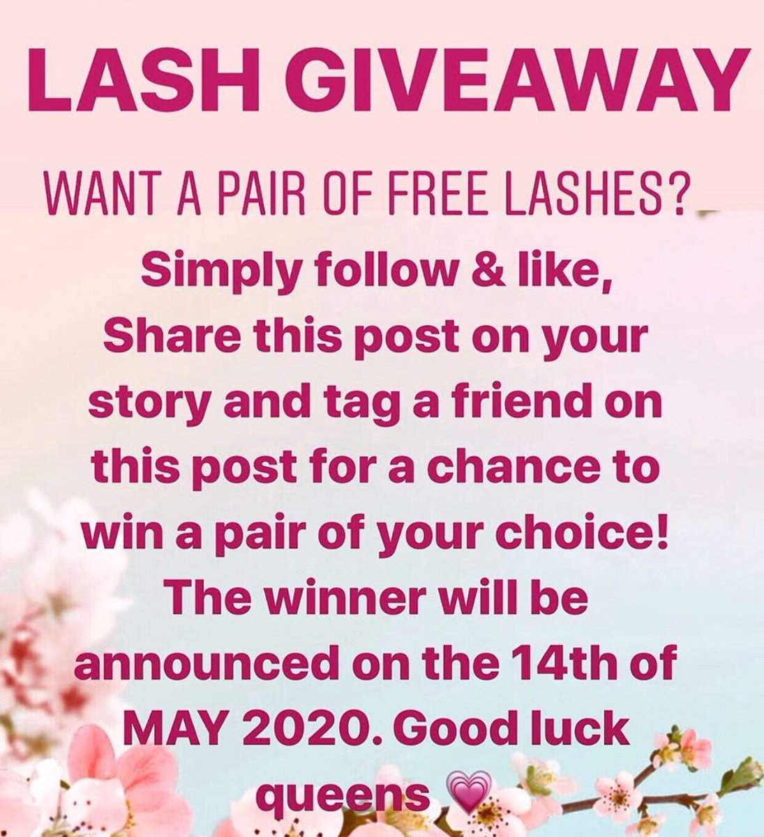 Head over to our Instagram page @cherryoulashes to be entered for this giveaway! Ends tomorrow so be quick #freelashes #mink #fauxmink #blackownedbusiness #freestuff #instagram #striplashes #25mmlashespic.twitter.com/tY3Z7jL3vG