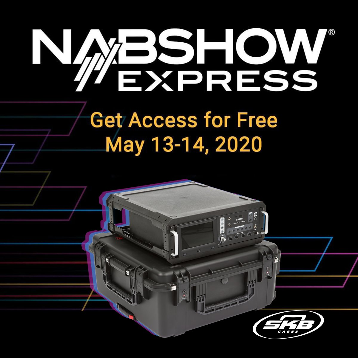 While we may not be able to meet in Las Vegas this year, that doesnt mean the #NABShow has to be cancelled entirely. #NABShowExpress is happening online now and its free! See SKBs highlighted products ➡️ bit.ly/2zxDRVd