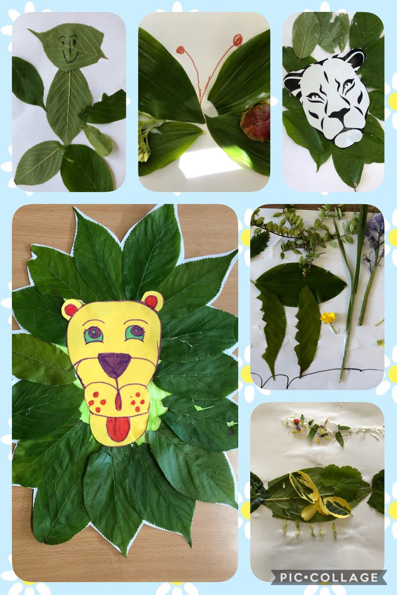 This afternoon children created art from things they found on a nature walk around our school grounds 🌿🌼 @NorthManorAcad https://t.co/4pB5wfEJpK