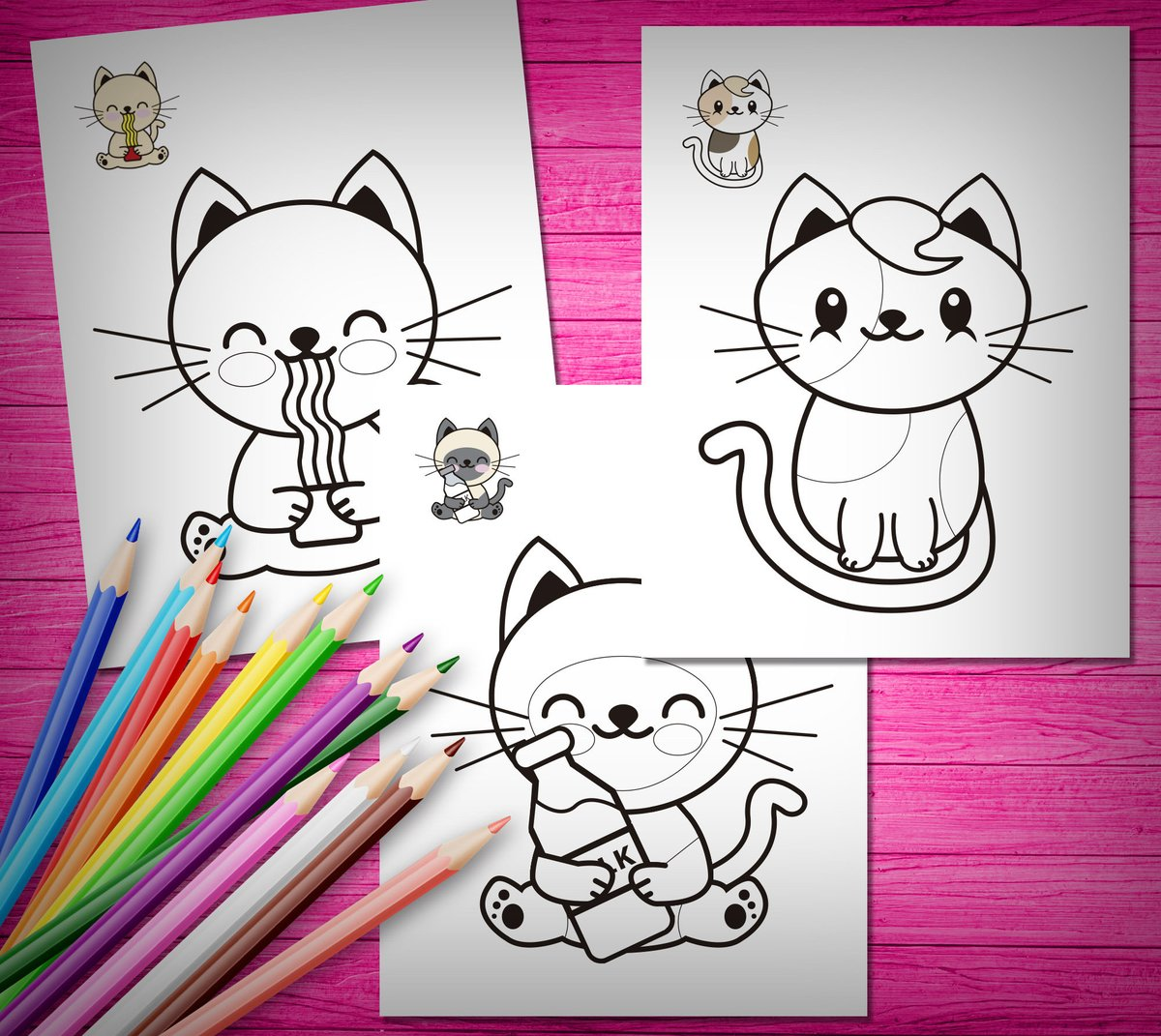 Baby Hello Kitty Playing Toys Coloring Pages Printable | 1071x1200