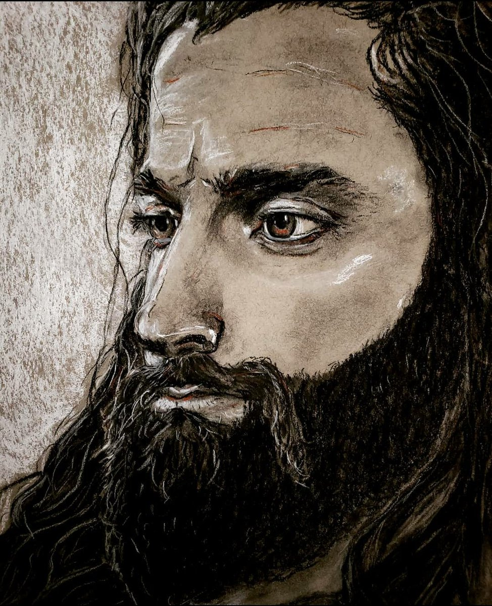 """The eyes are the lamp to the body - so as you pass through this life keep your eyes upwards towards @IAmEliasWWE, and your path will be made clear and the light will fill you up, as you walk on beloved, walk on."" - Book of Elias 6:22-23  Charcoal/white & red conte 🎨 https://t.co/LXeVjMmB5D"