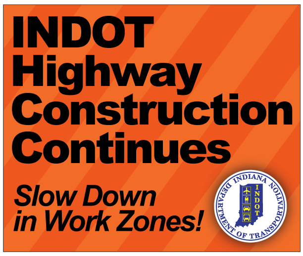 Our work zones are in full force as we head into the summer months. Please remember to slow down and be cautious as you enter and drive through work zones. #INDOTsafety