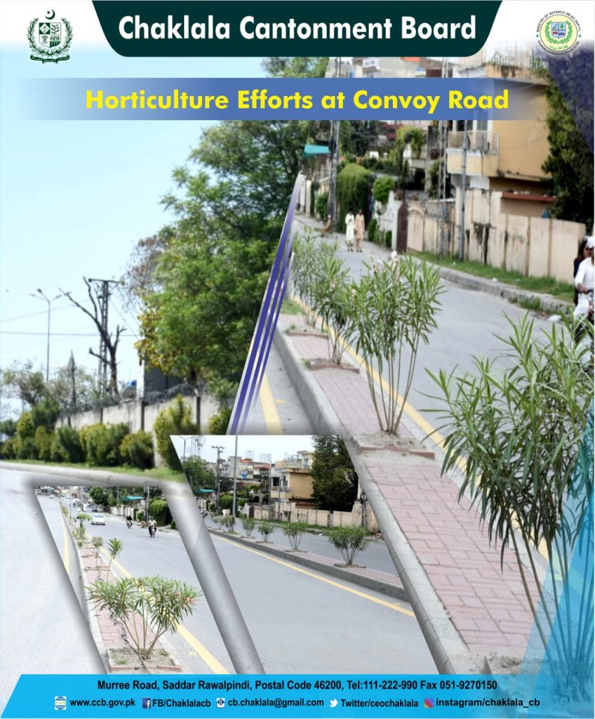 ::Horticulture Efforts at Convoy Road::  Chaklala Stays Green, Keep Chaklala Green  #CBCARE #CCB #Chaklala #Rawalpindi #Rawalpindians #Horticulture #Convoyrdpic.twitter.com/6t2hmAuo0J