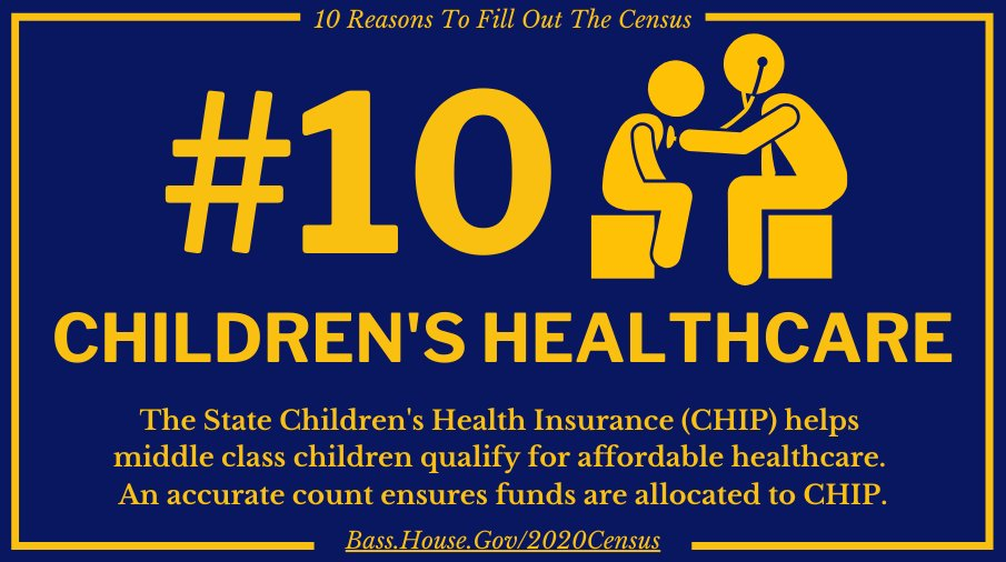 Why fill out the census? Children's Healthcare. bass.house.gov/2020census
