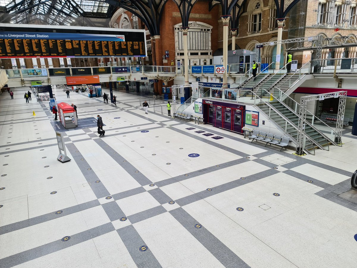 If you are travelling to or from Liverpool Street Station please remember there is currently a one-way system in place for the safety of all passengers and staff please follow signage and staff directions. In the coming weeks allow extra time for your journey during peak hours