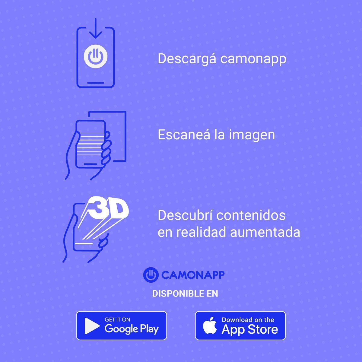 Descargate 📲 Camonapp   Escaneá el ÁTOMO ⚛️ que está en esta publicación y descubrí nuestros contenidos en realidad aumentada desde tu 📱 https://t.co/1N5hEFgxyG