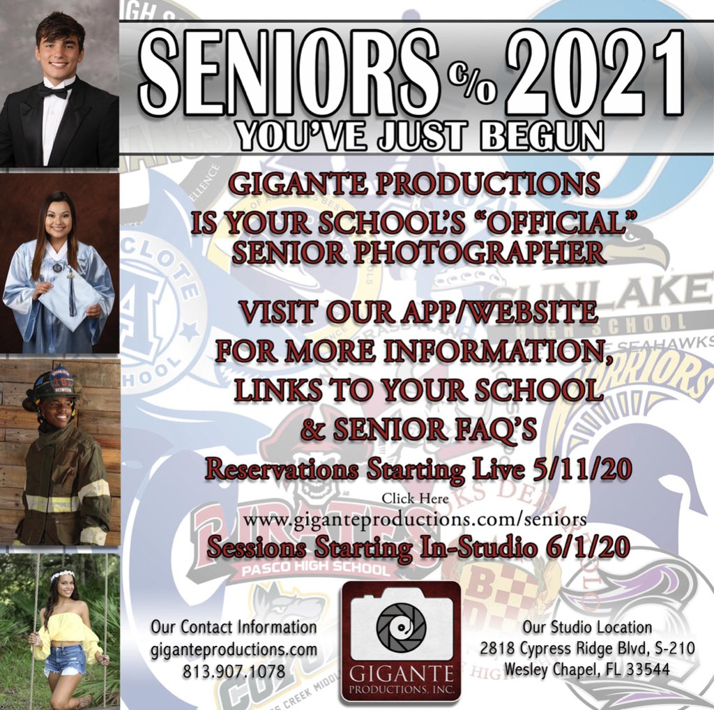 Hey @JwMHS Juniors!  It's your time to schedule your Senior photos!!  Schedule early by going to http://www.giganteproductions.com/seniors for more information. #Seniors2021 pic.twitter.com/bcVqi8DPu9