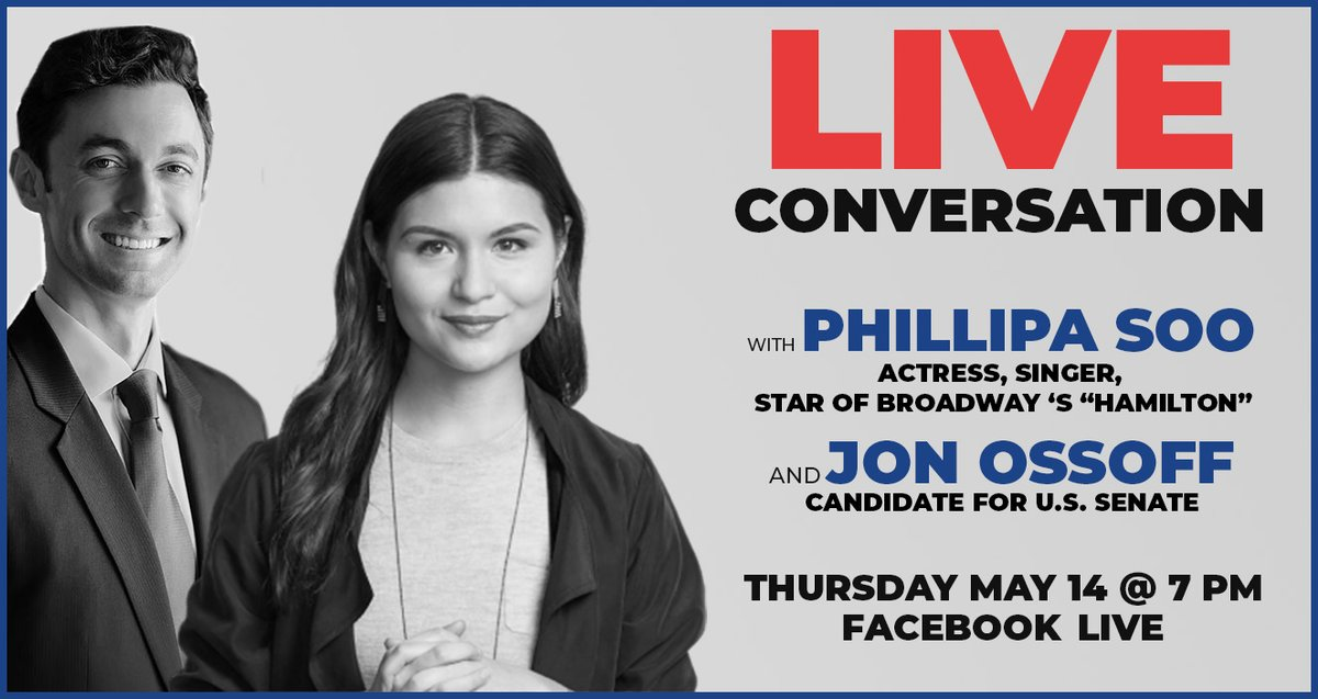 HAMILTON FANS! Youre invited to join me & original Broadway cast member @PhillipaSoo (Eliza Schuyler) for a live, interactive conversation *TOMORROW* about key moments in American history and how young people have shaped our democracy. RSVP now! go.electjon.com/phillipaconvo