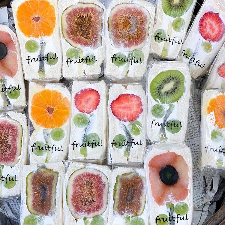 岡崎市のフルーツサンドの2強です。 ダイワスーパーに並ぶfruitfulもおすすめです