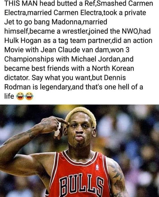 Happy Birthday Dennis Rodman! You legendary!