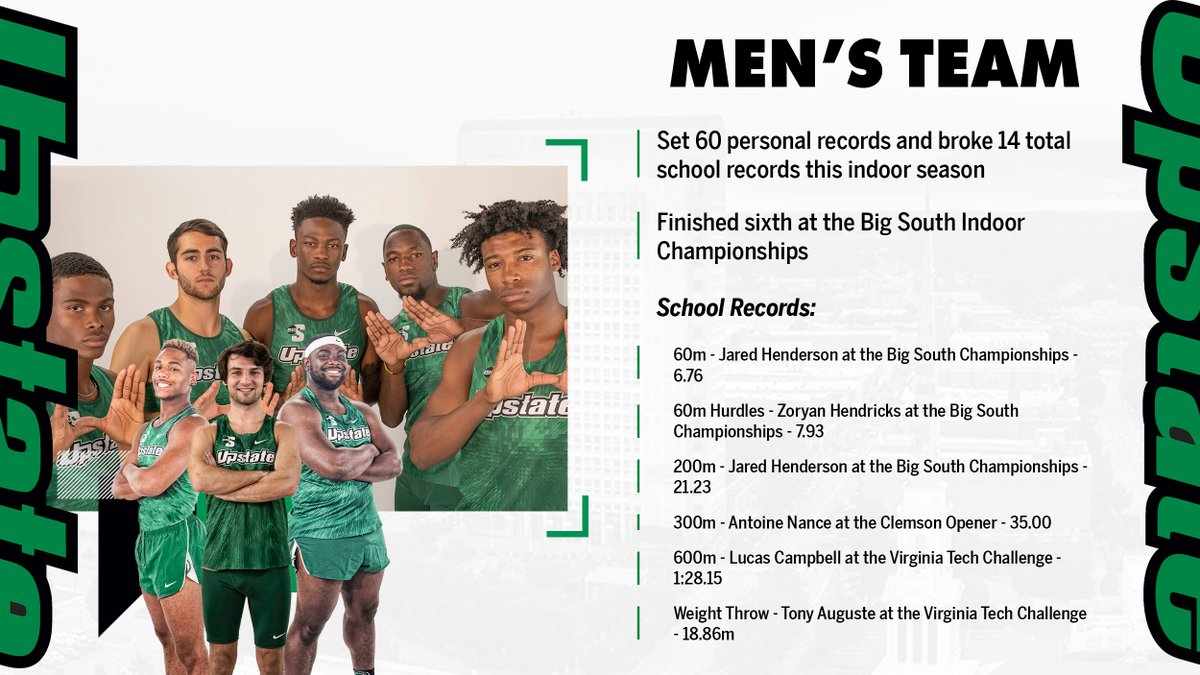 As a team, the men broke 14 total school records and set 60 personal records this season.  #SpartanArmy ➡️ #JoinUP https://t.co/puWEi6n3EX