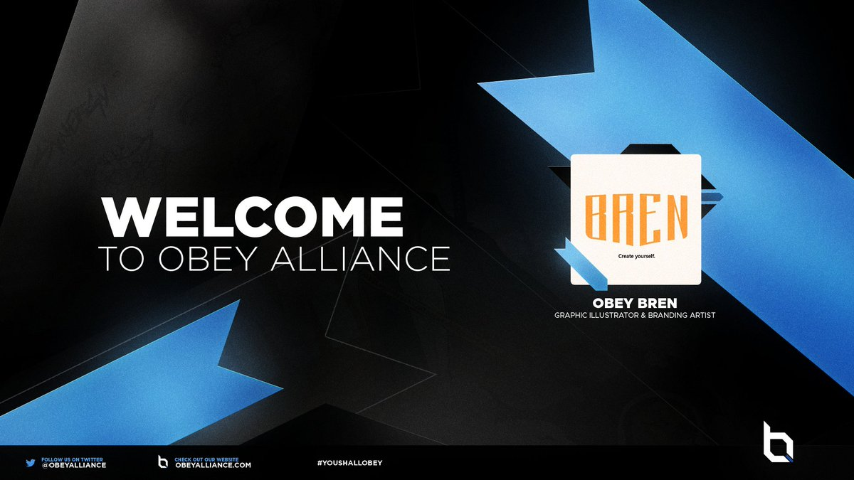 Please welcome our newest designer to Obey @brenfx @ObeyStudios #YouShallObey