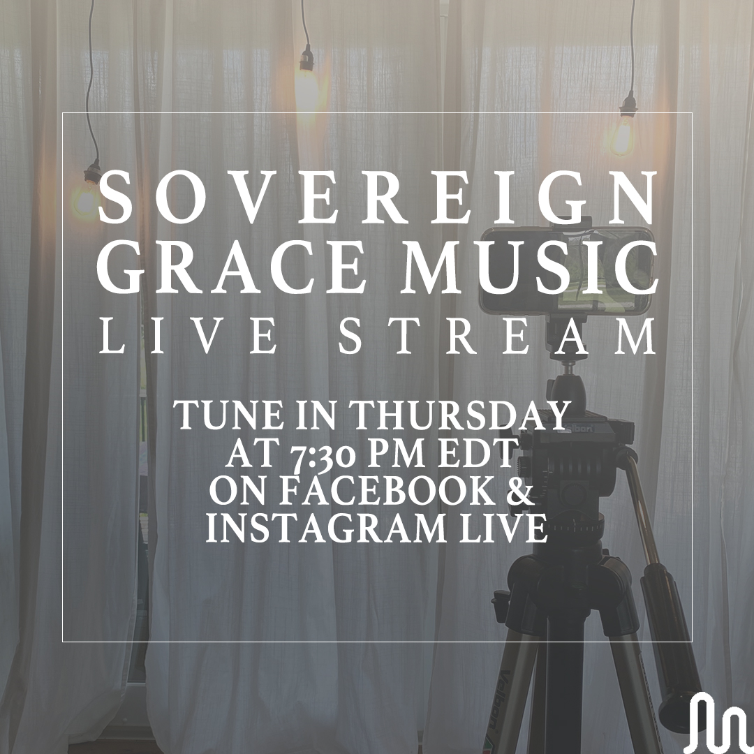 Join us tomorrow night at 7:30PM EDT on Facebook & Instagram Live for an evening of singing songs to our glorious Savior!