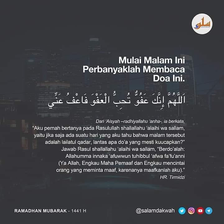 Replying to @salamdakwah: Mulai Malam ini perbanyaklah membaca doa ini.