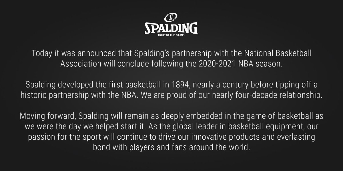 Spalding's statement on today's news