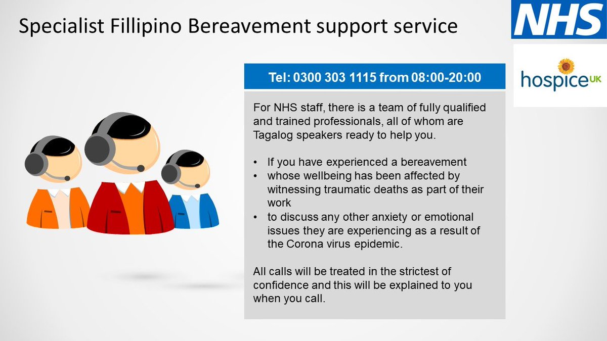 We are committed to #LookingafterTeamUHCW - please check out the full range of support on offer via TrustNav. For Fillipino colleagues needing support please check out this specialist service @AnnaKin2809 @ninamorganUHCW
