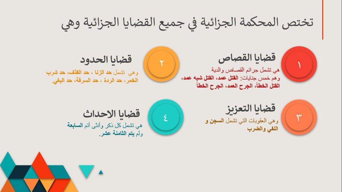 المحامي نواف النباتي On Twitter ٩ إختصاص المحكمة الجزائية من إعداد Hamitaf