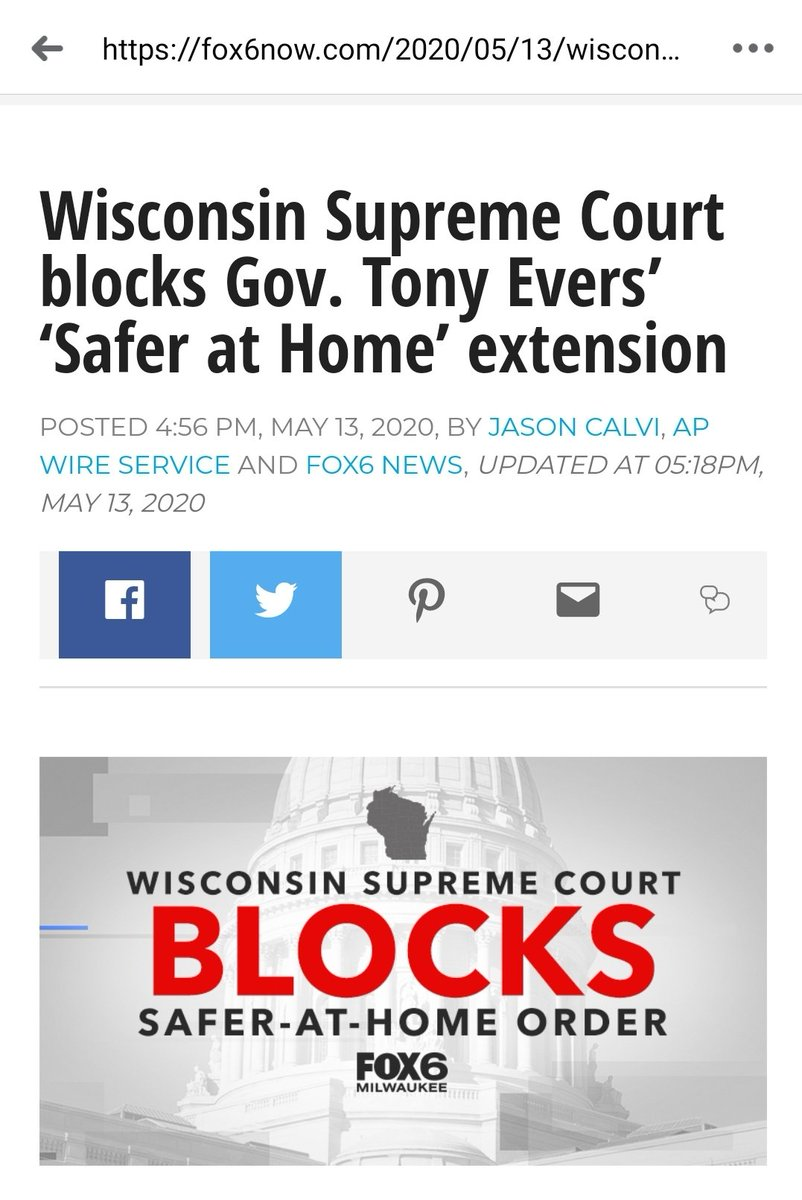 Hey @GrahamAllen_1 looks like the state of Wisconsin could be opening up very soon, they have just denied our democratic governors extension of his stay at home order till the end of the month. https://t.co/xESzq14aI5