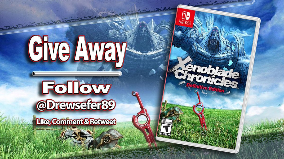 GIVEAWAY  WIN #XenobladeChroniclesDE   To Enter: Follow Me @Drewsefer89 Like Retweet  Drawing on May 24th Release date May 29th Shipping time may vary   Will this be your first time playing the original game? Comment below. #XenobladeChronicles #SwitchCorps #GiveAway<br>http://pic.twitter.com/oNGIrg9yjl