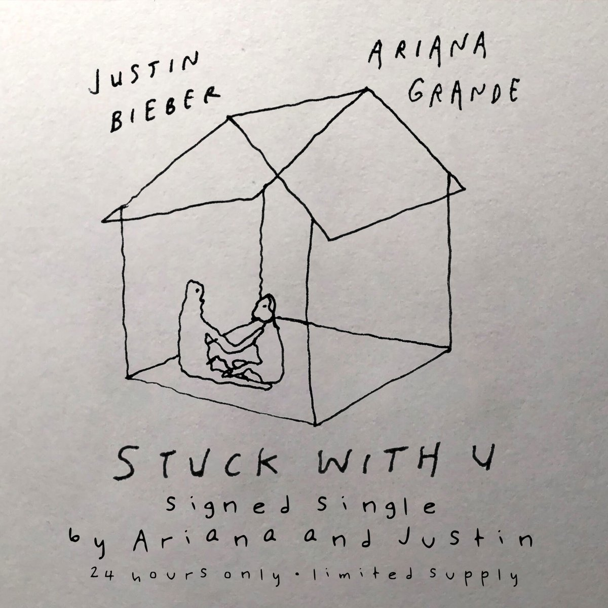 #StuckwithU signed single by Justin & Ari   24 hours only. Limited supply https://t.co/7LmDa0Rh8n https://t.co/69ATYb3wia