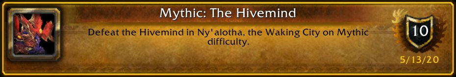 5 down, 7 to go ;) [Mythic: The Hivemind] #Warcraft
