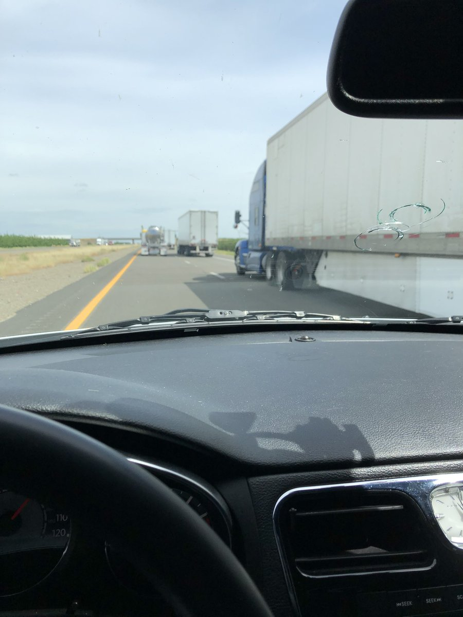 Looks like a lot more essential people on the road 😑 I hate traffic with trucks on both lanes