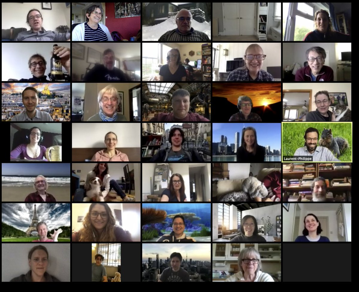 last day of the first Remote 3 day GO Consortium meeting, yesterday we closed with a 30 minute social event. Great to see everyone and it was easier to hear the talks than when previously remotely attending these meetings #biocuration #GeneOntology #GOannotation @news4go https://t.co/rpllJU2AJN
