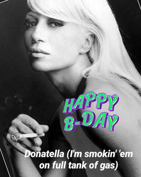 Happy Birthday to the cool Donatella