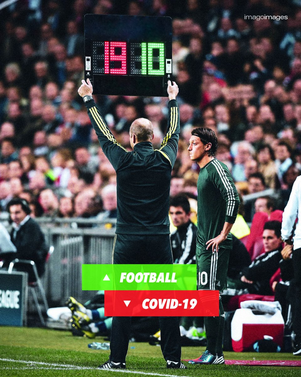 The substitution we are all waiting for 🔁🙏🏼  Covid-19 _ OUT ❌🦠 Football _ IN ❤️⚽ https://t.co/KitEEq8ntB