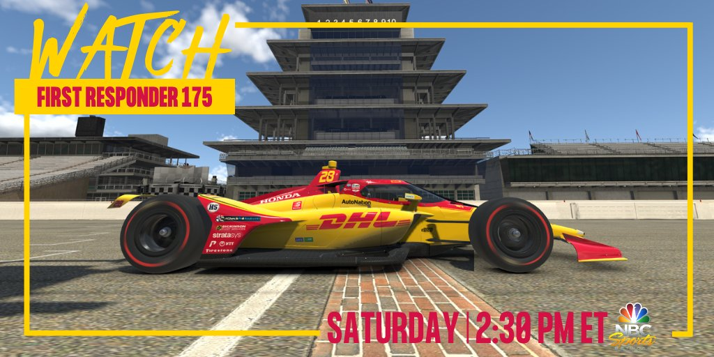 Get your engine fired up for today's @iRacing #IndyCar challenge on @NBCSN! Join @RyanHunterReay as he fiercely takes on the virtual track at 2:30 PM ET. #DHLTeamRHR #SpeedOfYellow #AllAndretti @FollowAndretti https://t.co/XyRKYvQ8Xp