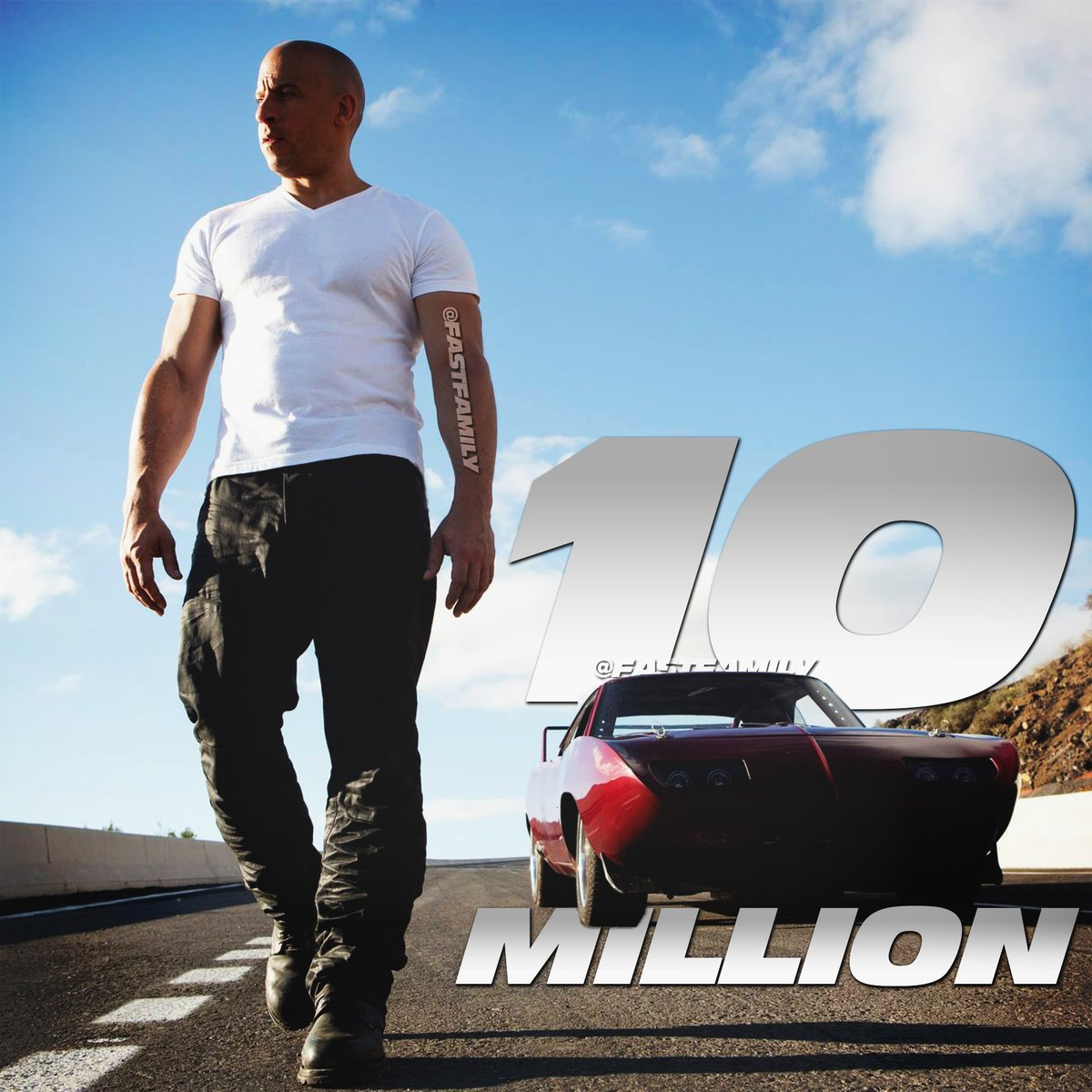 We've surpassed 10 Million (!) views on our #FastFamily @YouTube channel — thanks for the love & support!  https://t.co/SfzHHUbp20 #F9 #FAST9 https://t.co/D3NG6iJulC