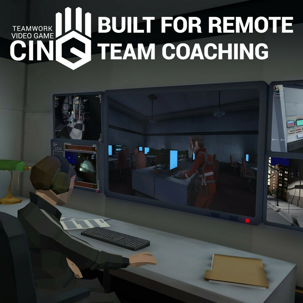 Train teams remotely in leadership & teamwork skills!  LEARN MORE https://playcinq.com/#Coach   #PlayCinQ #Coaching #Coaches #Coach #RemoteTraining #RemoteLearning #RemoteTeamwork #RemoteCoaching #Teamwork #Learning #Unity3D #HR #Leadership #Gaming #Game #DigitalLearning #CorporateU…pic.twitter.com/LIltQyGZst