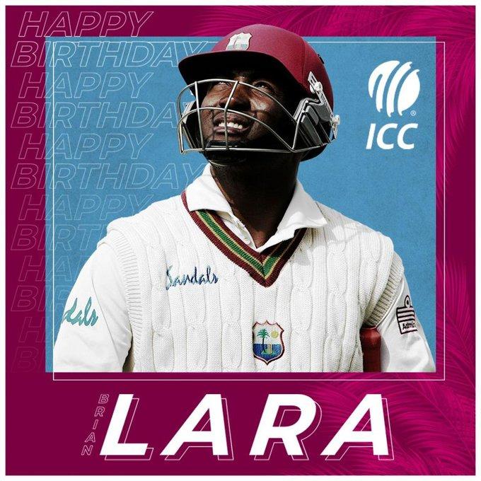 Happy birthday Brian lara sir..  Outstanding batsman