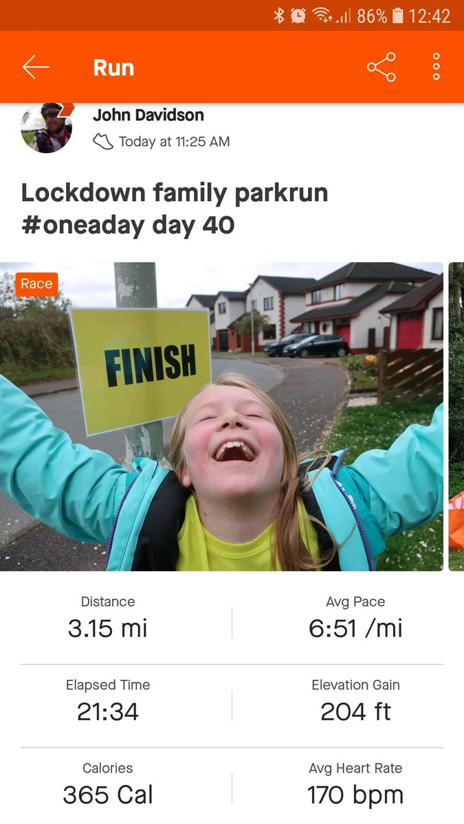 We might not have started at 9.30am, but apart from that, it was just like @invrnessparkrun on #notparkrunday! Clara and I also want to claim parkrun PBs - I just took 8 seconds off my best and Clara smashed hers 🏃‍♂️🏃‍♀️ https://t.co/jYMkF9mpPV