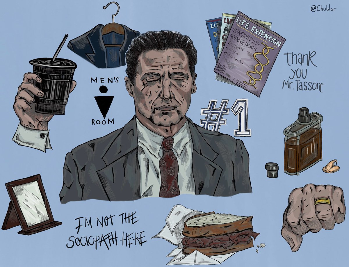 """""""and i said, i'd even it all out on monday"""" - a frank tassone character study by me, wonderfully portrayed by the one and only @RealHughJackman, enjoy! #BadEducationHBO @mike_makowsky"""