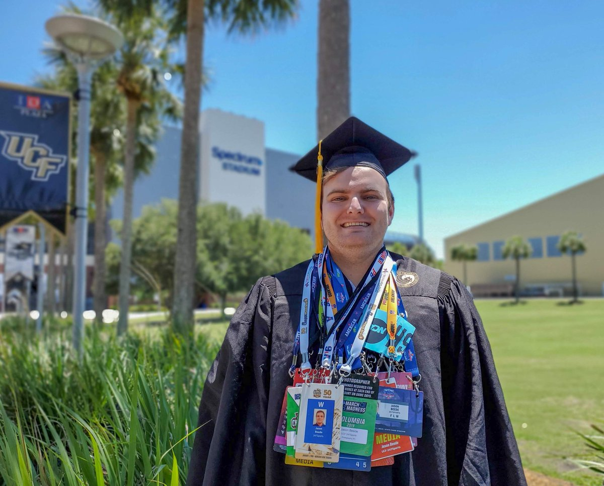 Can't believe I'm graduating from @UCF today! Proud to be #BuiltByUCF.